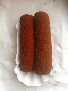 Vlees- en goulashkroket